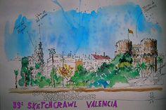 Torres de Serranos by Josep Castellanos #sketchcrawl #39sketchcrawl #live39SKTC