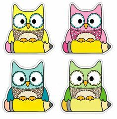 Welcome to school Owl Labels, Owl Theme Classroom, School Labels, Classroom Organization, Preschool Activities, Teaching Resources, Back To School, Clip Art, Kids