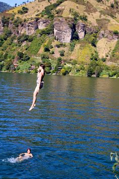 cliff jumping into Lago de Atitlan. From Hit The Road to Antigua: Top Five Road Trip Destinations of Guatemala