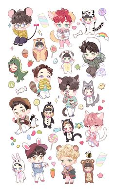 EXO Chibi Stickers