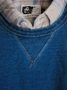 Blue triangle collar.