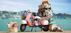 Let's vacay with a pink vespa on We Heart It Robin Sharma, Sidecar, Pink Vespa, Moto Scooter, Fashion Marketing, Electric Scooter, Creative Studio, Solo Travel, Bon Voyage