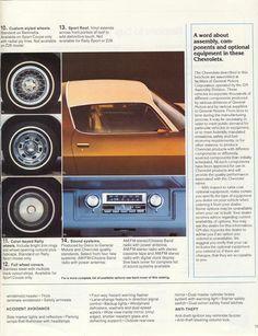 1979 Camaro Sales Brochure - Options