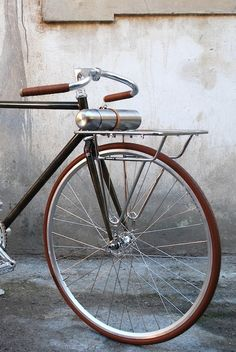 """117F1 fixed gear bicycle """"Porteur"""" 2 speed, coaster brakeColumbus etched steel frame handmade in Italy"""