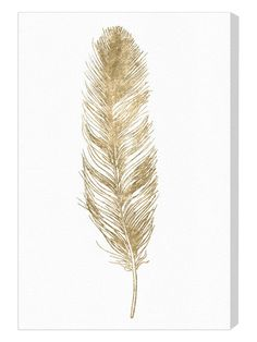 Shop for Oliver Gal 'Feather' Fashion and Glam Wall Art Canvas Print - Gold, White. Get free delivery On EVERYTHING* Overstock - Your Online Art Gallery Store! Get in rewards with Club O! Painting Logo, House Painting, Painting Prints, Fine Art Prints, Paintings, Feather Wall Art, Feather Painting, Canvas Wall Art, Canvas Prints