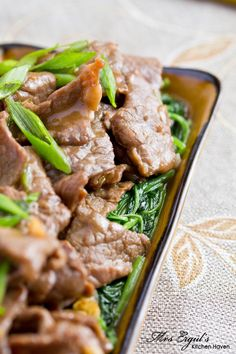 Chinese Stir-Fried Beef - Replace the cornstarch with arrowroot, and the veggie (soybean) oil with olive oil or coconut oil.