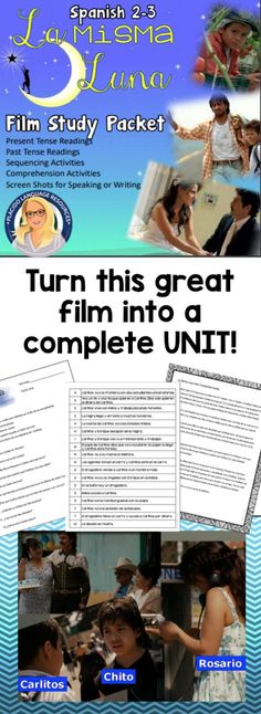 La Misma Luna is a wonderful accompaniment to any immigration unit or as a stand-alone mini-unit. Film Study Packet contains everything you will need to make a one-week or longer mini-unit out of this film. This would be a PERFECT sub plan!  This resource is designed for use by Spanish 2 or 3 students. Spanish 1 could use this later in the year if they have been in a target-language intensive learning environment and have a supportive teacher.