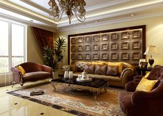 An amazing wall in a living room.