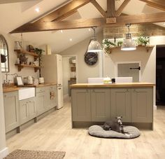 🏡OUR KITCHEN🏡 We've had so many people message us regarding our kitchen so thought we would share a few details!🤗 We bought our kitchen… Barn Kitchen, Home Decor Kitchen, Rustic Kitchen, Kitchen Interior, New Kitchen, Farmhouse Kitchen Diy, Kitchen Ideas, Modern Country Kitchens, Cottage Kitchens