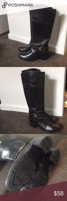 "Bandolino ""Boulla"" Black Leather Boots Worn, a few timy scratches Bandolino Shoes Winter & Rain Boots"