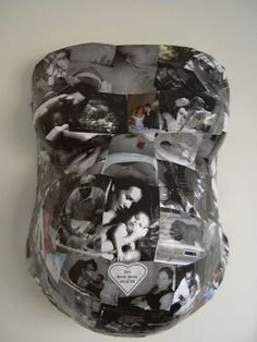 Belly cast! Love the idea of putting photos all over it!!