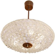 Carl Fagerlund for Orrefors Crystal Chandelier | From a unique collection of antique and modern chandeliers and pendants  at http://www.1stdibs.com/furniture/lighting/chandeliers-pendant-lights/