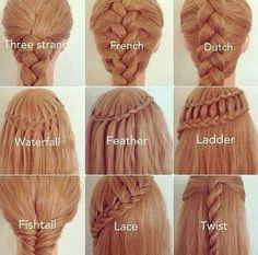 ~ All of these gorgeous braids :D