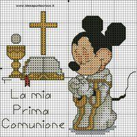 topolino prima comunione punto croce by syra1974