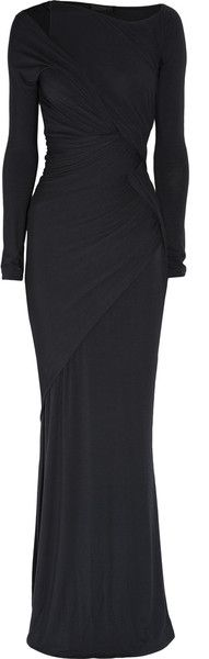 Donna Karan ~ Wrap-effect Stretch-jersey Maxi Dress
