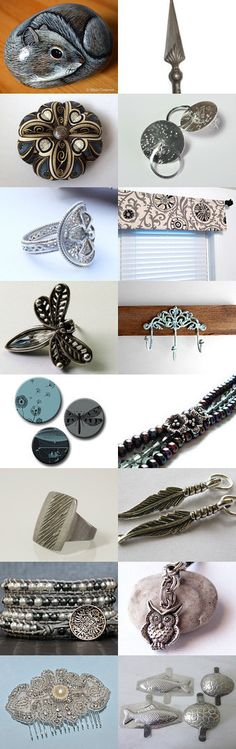Shades of Gray by SilverandEarth on Etsy--Pinned with TreasuryPin.com