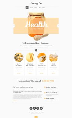 Smart suggestions on crafting an effective style and top text banner generators. However, the Internet makes things a lot easier for the client. Website Design Inspiration, Website Design Layout, Web Layout, Layout Design, Travel Website Design, Honey Store, Food Web Design, Email Design, Email Template Design