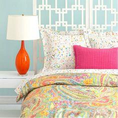 Beautiful for a little girl's room.  Lyric Paisley Duvet from PoshTots