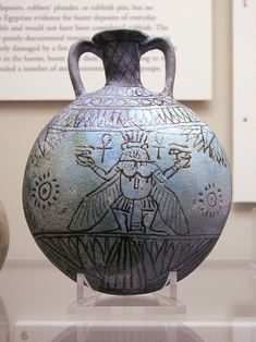 Faience vessel with Bes - Eye of Horus - Wikipedia, the free encyclopedia