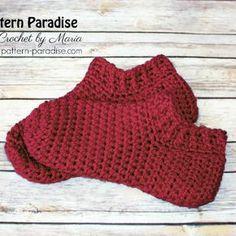 Free crochet pattern for slippers socks booties by pattern-paradise.com #crochet #patternparadisecrochet #slippers #socks #booties