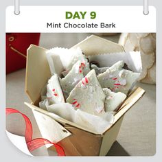 25 Days of Christmas Cheer • Day 9 • Mint Chocolate Bark Recipe is shared by Patti Maurer of Wise, Virginia