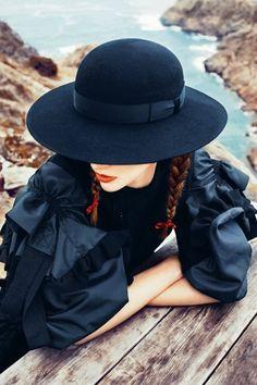 blue & hat