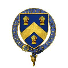 Coat of arms of Sir Christopher Hatton, KG