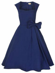 Lindy Bop 'Grace' Classy Vintage 1950's Rockabilly Style Bow Swing Party Dress - http://cheune.com/a/15239526936784387