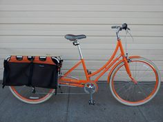 A Public bike with the Xtracycle.