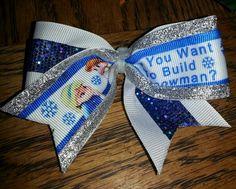 Frozen mini cheer bow