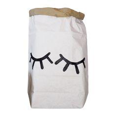 TellKiddo Closed Eye Paper Bag Storage - Leo & Bella