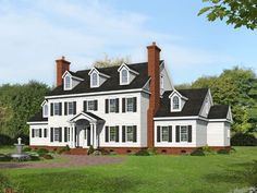 062H-0276: Luxury Colonial House Plan; 7200 sf Colonial House Plans, Country Style House Plans, Colonial Mansion, Georgian Style Homes, Colonial Style Homes, Victorian Homes, Floor Plan Drawing, Safe Room, Dormer Windows