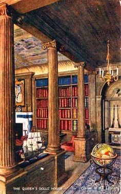Antique Tucks Postcard - The Queens Dolls House Library