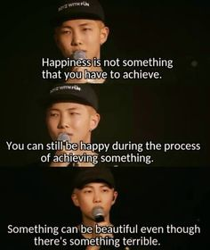 Rap monster BTS He's quotes are so meaningful Bts Lyrics Quotes, Bts Qoutes, Drake Lyrics, Band Quotes, Bts Boys, Bts Bangtan Boy, Bts Citations, Kpop, Meaningful Quotes