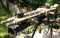 Tactics Group GmbH had the company's MG14Z at the 2015 IWA Outdoor Classics show earlier this month. The machine gunuses a pair of MG3 receivers with a heavy dose of engineering to ensure the twin barreled gun runs right. The MG14Z is chambered for the 7.62×51 NATO cartridge and can run two different loads at …   Read More …