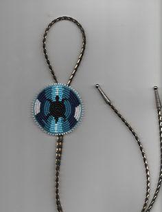 Native American Beadwork Bolo Tie