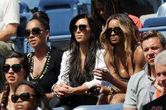 Ciara, LALA, Kim K at Us Open
