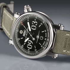 RSC P-51 Mustang SCAT7 Pilot's Watch - There is a lot of history behind the inspiration for this piece. More details at: http://www.ablogtowatch.com/rsc-p-51-mustang-scat7-pilots-watch/ @rsc_pilots_watches #watches #watchporn #watchnerd #instawatches #wat
