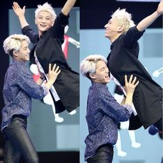 "|EXO| Kai and Tao at Happy Camp Tao: ""I believe I can fly"" Pure joy on his face lol"