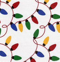 Fabric Finders, Inc. Twill #843 Christmas Lights