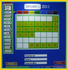 Calendar Math Interactive / Smart Board Editable Powerpoint ...