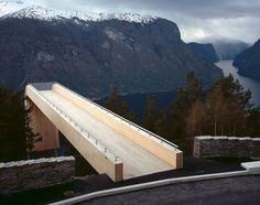 Viewpoint in Stegastein , Aurlandsrjellet (Norway)