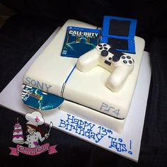 Instagram media by cakesbycoley - PS4 Cake for Tajs' Birthday! #cake… Plus