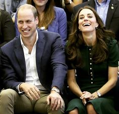 Prince William, Duke of Cambridge and Catherine Duchess of Cambridge watch a volleyball match on a visit to Kelowna University during their Royal Tour of Canada on September 27, 2016 in Kelowna, Canada.