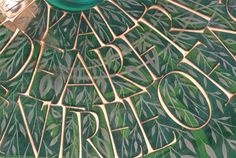 Glass Engraving, Calligraphy Letters, How To Dry Basil, Plant Leaves, It Cast, Carving, Lettering, Artist, Crafts
