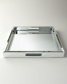 Bathroom Mirror Tray giobagnara square defile #leather tray | agentia uk | 饰品