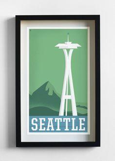 seattle travel print