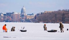 Best Ice Fishing @ Lake Monona | Madison, WI