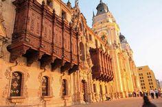 1535 – Spanish conquistador Francisco Pizarro founds Lima, the capital of Peru.   plaza mayor in the historic center of lima peru the