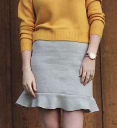 Upcycled Sweatshirt to Skirt DIY from Encourage Fashion